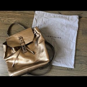 Liebeskind bronze metallic backpack
